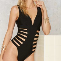 Side Piece Strappy Swimsuit