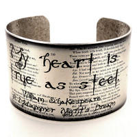 A Midsummer Night's Dream Quote Cuff Shakespeare by accessoreads