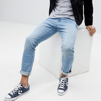 Esprit Slim Jeans In Light Blue Wash at asos.com
