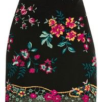 Floral Embroidered Skirt | Topshop