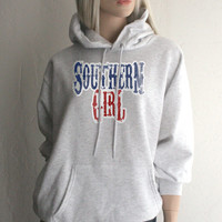 Red White & Blue Southern Girl Hoodie Sweatshirt - FREE SHIPPING in the USA