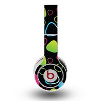 The Abstract Bright Colored Picks Skin for the Original Beats by Dre Wireless Headphones