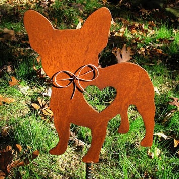 French Bulldog Dog Metal Garden Stake - Metal Yard Art - Metal Garden Art - Pet Memorial 2