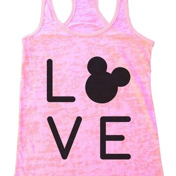 LOVE Burnout Tank Top By Womens Tank Tops