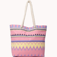 Zigzag Beach Bag | FOREVER 21 - 1053760327