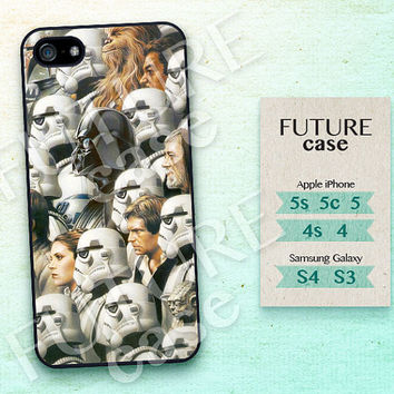 Star Wars iPhone 5s case Darth Vader iphone 5 case Han Solo iPhone 5c case iphone case iphone 4 case Hard or Soft Case-STW15