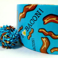 I Love Bacon Duct Tape - One Roll of Duck Brand Tape