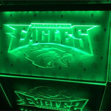 B054-b Philadelphia Eagles Football Led Light Sign