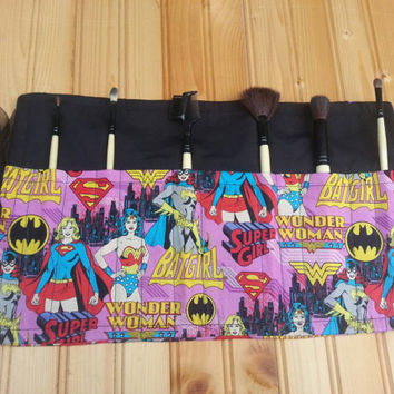 Super women make up brush holder