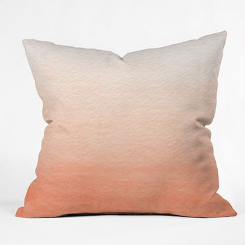 Social Proper Peach Ombre Throw Pillow