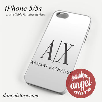 Armani Exchange White Phone case for iPhone 4/4s/5/5c/5s/6/6s/6 plus