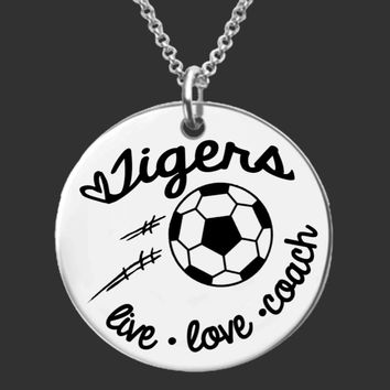 Soccer Coach Personalized Necklace | Coach Gifts
