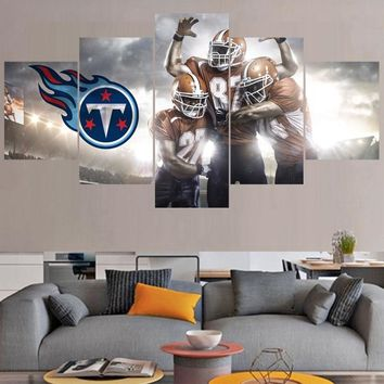 Football Team Photo Paintings Tennessee Titans Modern Home Decor Living Room Bedroom Wall Art Canvas Print Painting Calligraphy