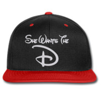 she wants d snapback hat and beanie