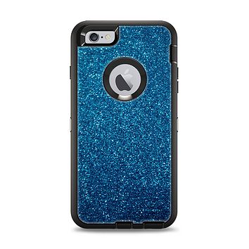 The Blue Sparkly Glitter Ultra Metallic Apple iPhone 6 Plus Otterbox Defender Case Skin Set