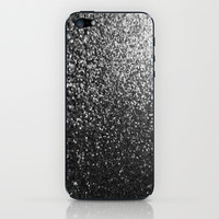 Silver Sparkle Glitter iPhone & iPod Skin by xjen94
