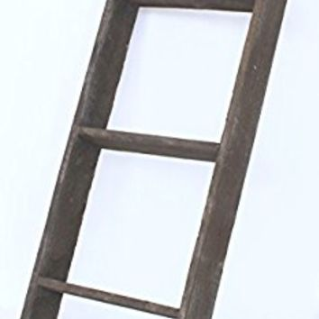 BarnwoodUSA Reclaimed Wood Bookcase Ladder (3 ft, Brown)