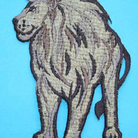 ID 0695 Lion Cat Wild Animal Safari Embroidered Iron On Applique Patch