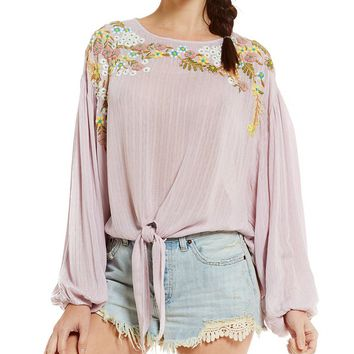 Free People Up And Away Embroidered Top | Dillards