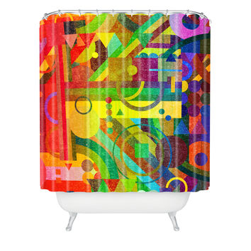 Nick Nelson Future Patterns Shower Curtain