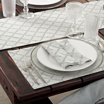 Printed Moroccan Design Table Runner | Overstock.com Shopping - The Best Deals on Table Runners