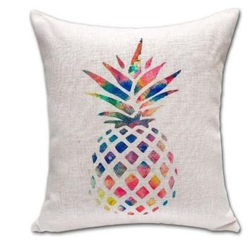 ONETOW Day-First? Home Decor Soft Comfortable Cotton Pineapple Pillow