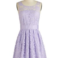 BB Dakota Pastel Mid-length Sleeveless A-line When the Night Comes Dress in Violet