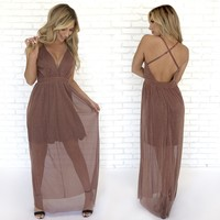 Chic & Sparkle Maxi Dress