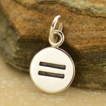Sterling Silver Equality Sign Charm