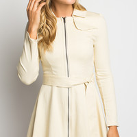 Hummingbird Trench Coat in Cream