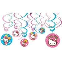 Hello Kitty Swirl Decorations