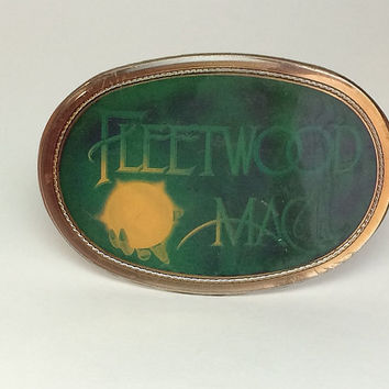 1970s Fleetwood Mac Round Belt Metal Buckle Original 1977 by Pacifica Rock Roll Clothing Stevie Nicks Soaring Hawk Vintage Free US Shipping