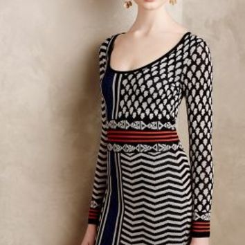Araminta Petite Sweater Dress by Plenty by Tracy Reese Black Motif