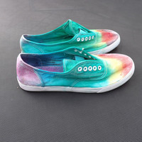 Tie Dyed Canvas Shoes