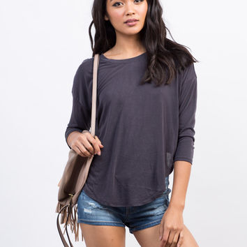 Soft Hi-Low Cropped Tee