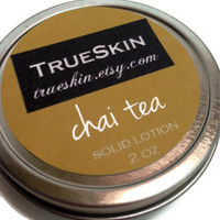 Chai tea solid lotion bar