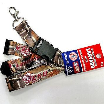 Eastern Kentucky Colonels CAMO EKU RR Deluxe 2-sided Lanyard Keychain University