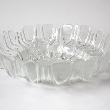 Vintage Finnish Glass Bowl - Humppila