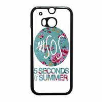 5 Seconds Of Summer Floral Pink HTC One M8 Case