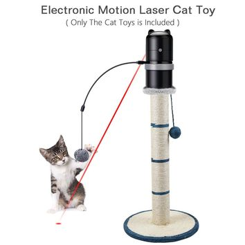 Electronic Creative Funny Pet Cat Toys LED Cat Exercise Laser Toys Topper Cat Scratching Post Feather Wand Portable Puppy Toys