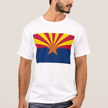 T Shirt with Flag of Arizona State USA
