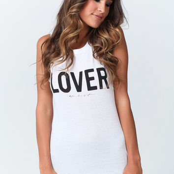 LOVER MUSCLE TANK WHITE