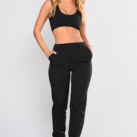 Office Meeting Pant Set - Black
