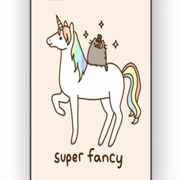 Pusheen Cat With Unicorn for iPhone 4/4S Case *