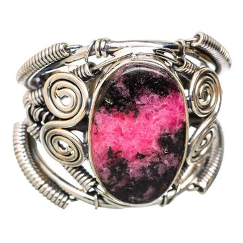 Rhodonite 925 Sterling Silver Ring Size 9