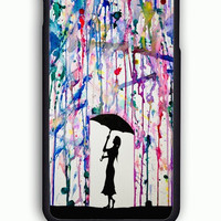 iPhone 6 Case - Rubber (TPU) Cover with Dripping Colors The Rain  Rubber Case Design