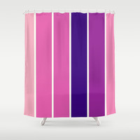 Pink & Purple Stripes Shower Curtain by 2sweet4words Designs   Society6