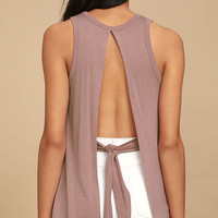 Impassioned Mauve Tank Top
