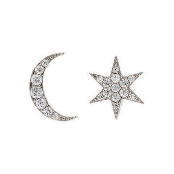 Sugar Bean | Mismatched Star Moon Stud Earrings
