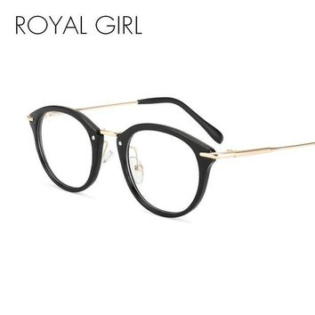 DCCKU7Q ROYAL GIRL Classical Retro Women Eyeglasses Frames Optical Glasses acetate Frame Clear lens Glasses Vintage Spectacles ss718
